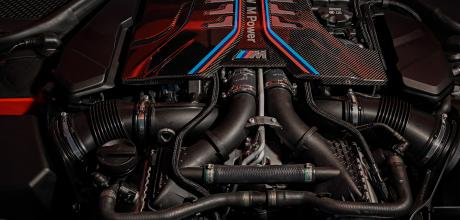 2022 BMW M8 Competition Coupe F92 engine S63 V8 4.4 litre