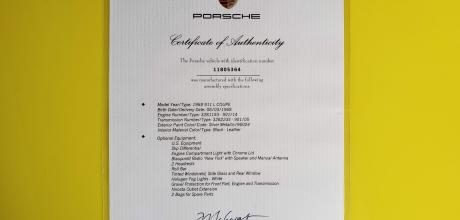 """1968 Porsche 911L """"Sports Purpose"""" Coupe"""